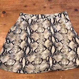 Tobi snakeskin print skirt